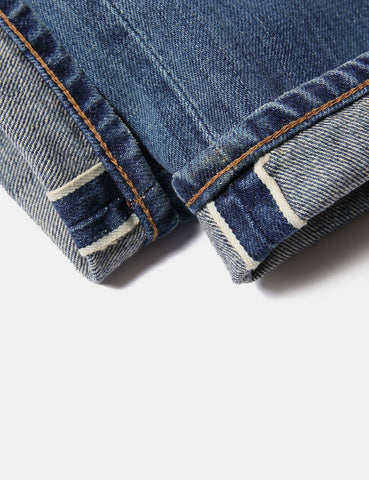 Edwin ED-55 White Listed 12.5oz Jeans Relax (Tapered) - Mid Sifted Used Indigo