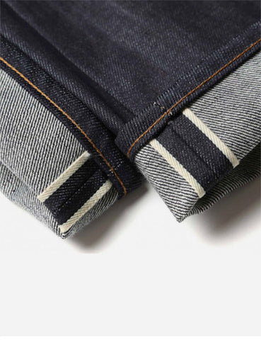 Edwin ED-55 White Listed 12.5oz Jeans (Relax Tapered) - Unwashed Indigo