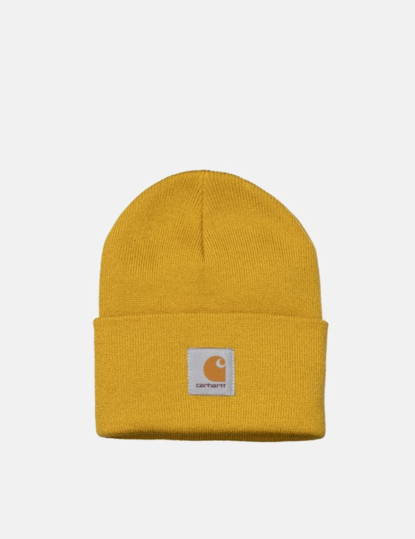 Carhartt-WIP Watch Cap Beanie Hat - Colza Yellow