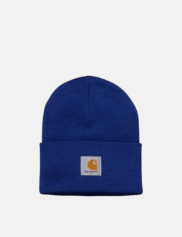 Carhartt-WIP Watch Cap Beanie Hat - Thunder Blue