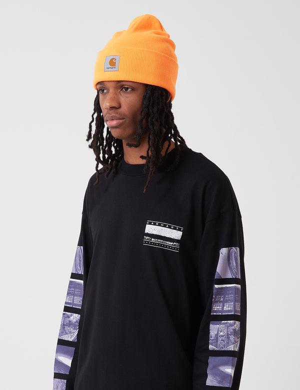 Carhartt-WIP Watch Beanie Hat - Pop Orange