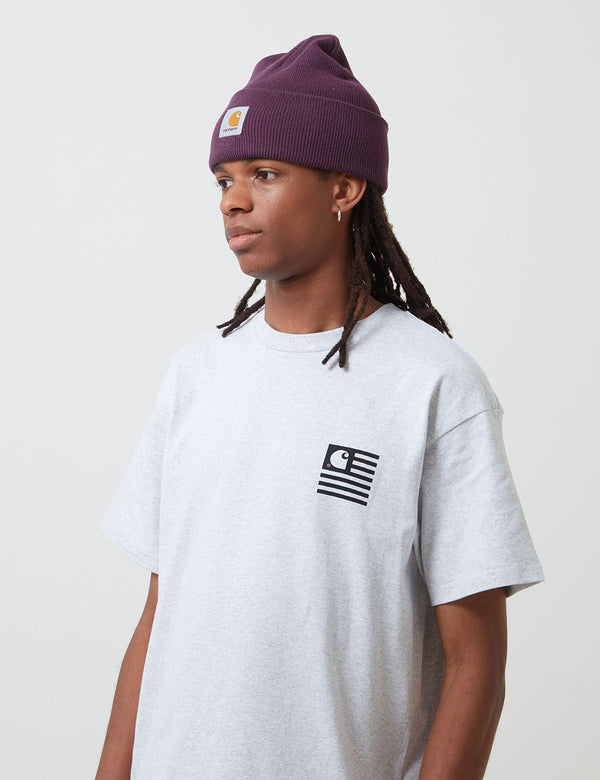 Carhartt-WIP Acrylic Watch Beanie Hat - Boysenberry