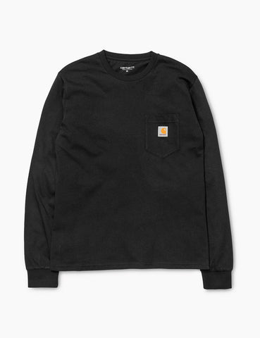Carhartt Pocket Long Sleeve T-Shirt - Black