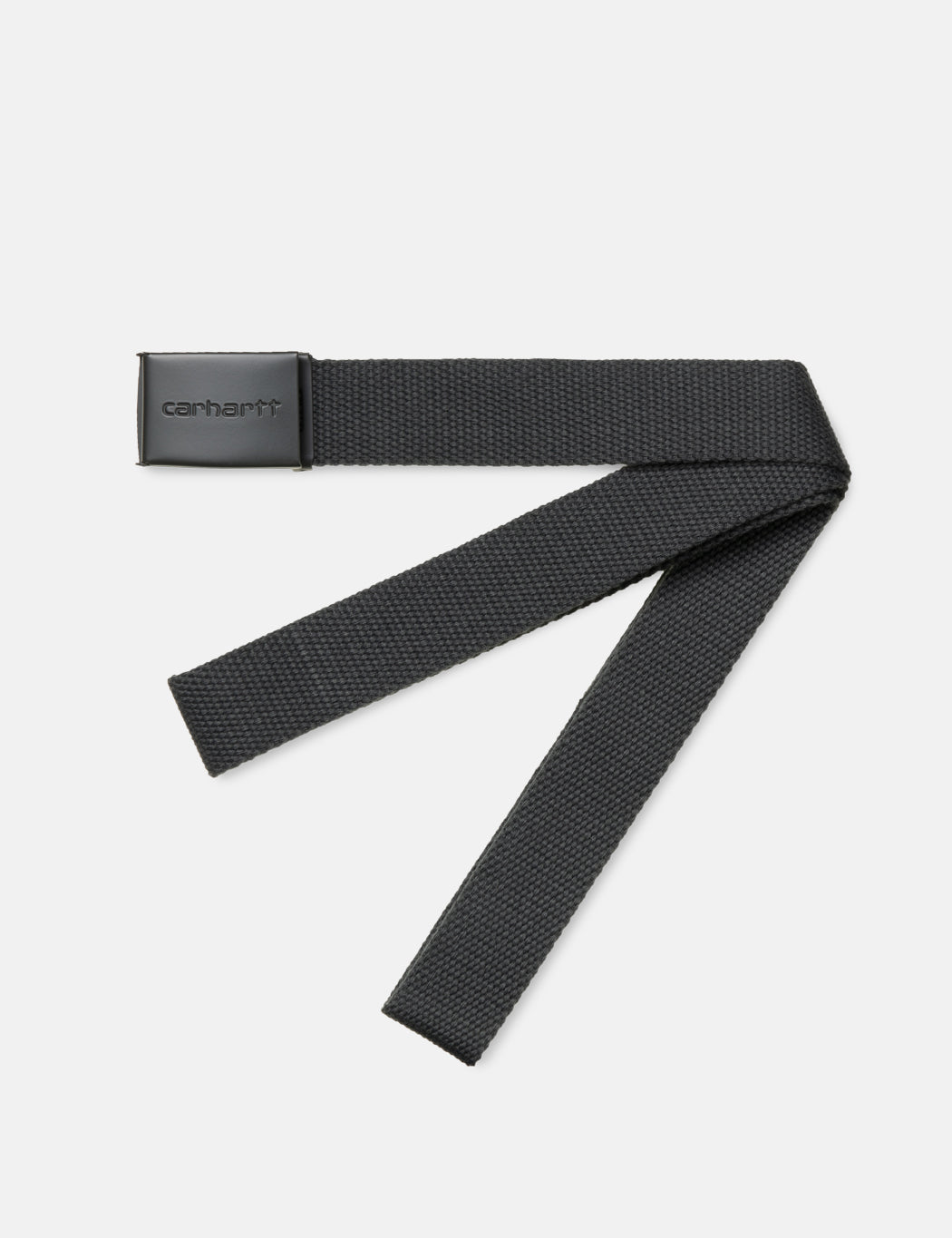 Carhartt-WIP Clip Belt Canvas (Tonal) - Blacksmith Grey | URBAN EXCESS.