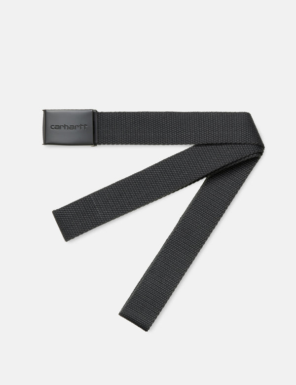 Carhartt-WIP Clip Belt Canvas (Tonal) - Blacksmith Grey