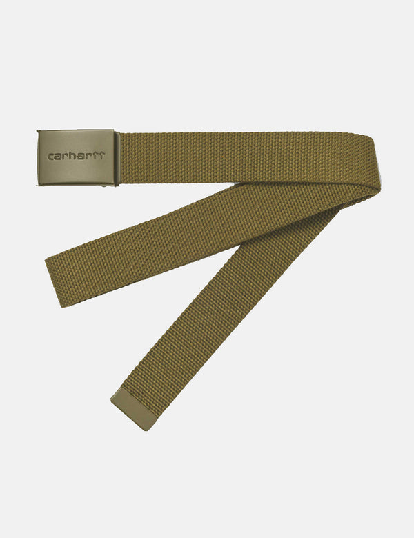 Carhartt-WIP Clip Belt Canvas (Tonal) - Hamilton Brown