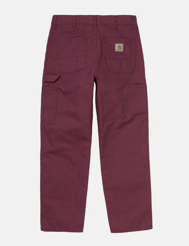 Carhartt-WIP Single Knee Pant - Dusty Fuchsia Rinsed