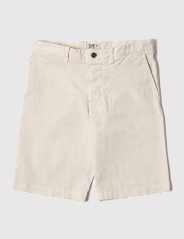 Edwin Rail Sateen Stretch Shorts - Natural