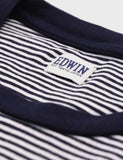 Edwin Engineered Stripes T-Shirt - Navy/White
