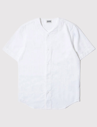 Edwin French Seersucker Baseball Shirt - White