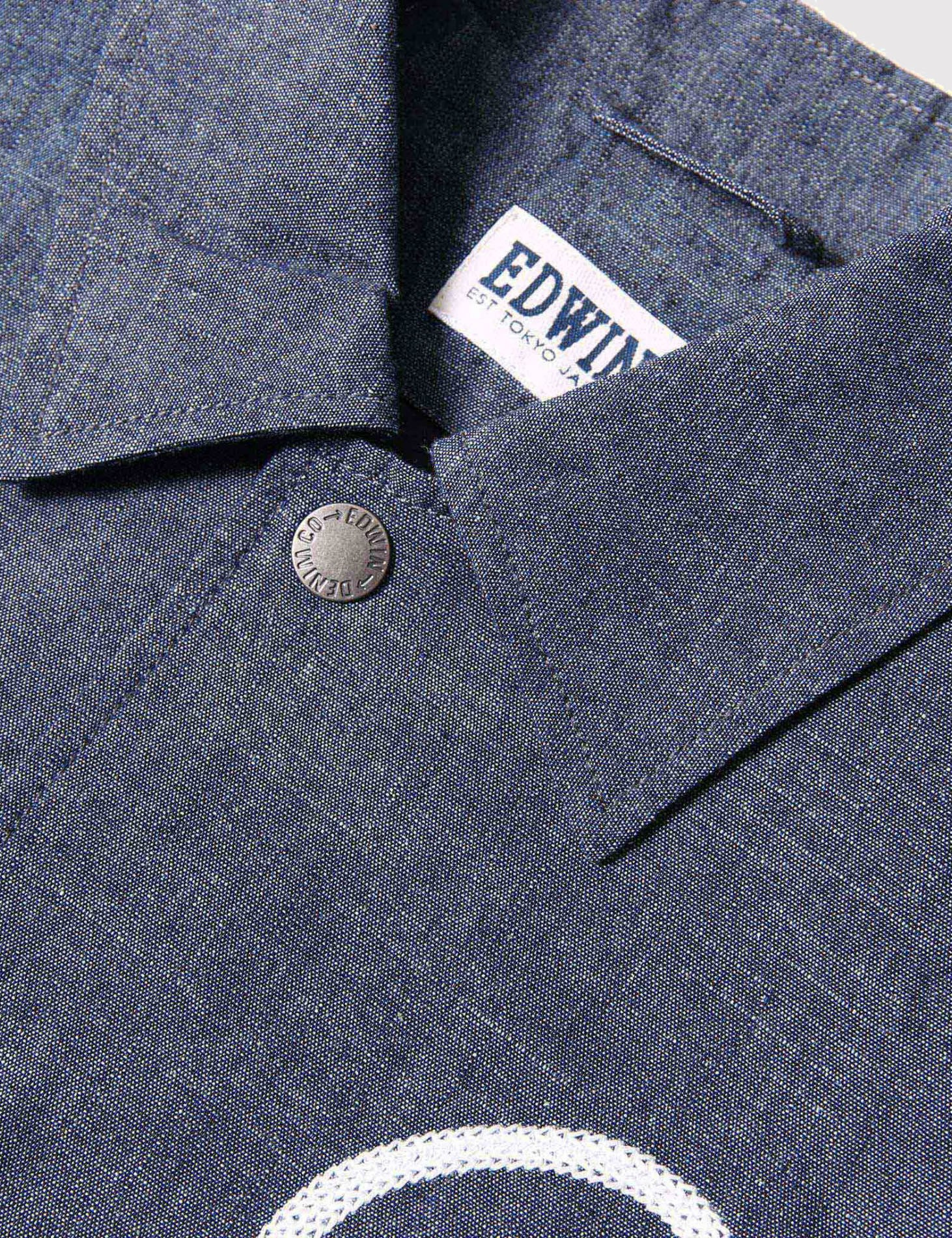 Edwin Coach Jacket - Blue Chambray