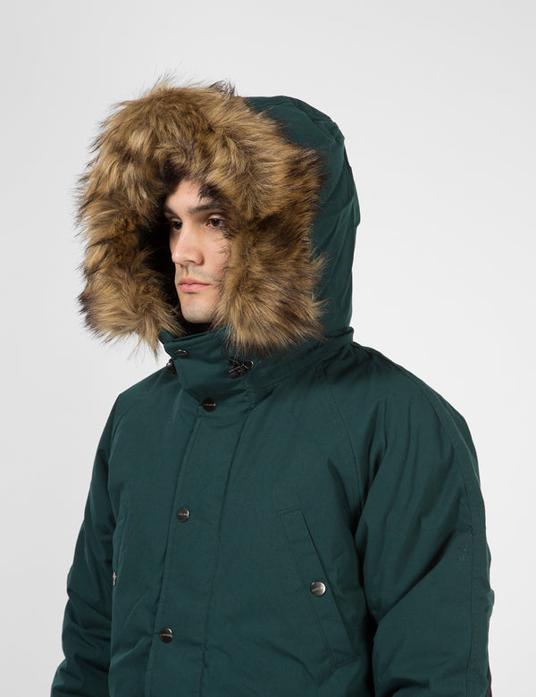 Carhartt-WIP Trapper Parka - Dark Fir Green / Black