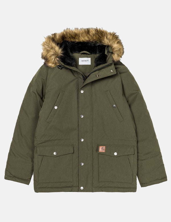 Carhartt-WIP Trapper Parka - Cypress Green/Black