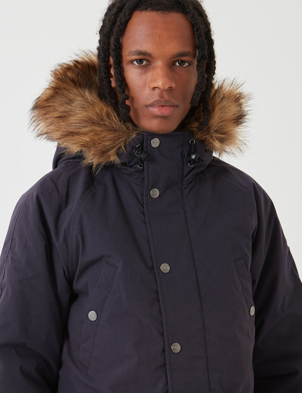 Carhartt-WIP Trapper Parka - Dark Navy Blue / Black