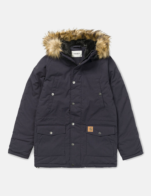 Womens Carhartt-WIP Trapper Parka - Dark Navy/Black