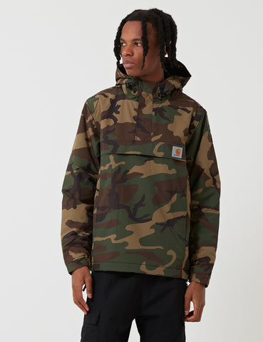 Carhartt Nimbus Half-Zip Jacket (Fleece Lined) - Camo Laurel Green