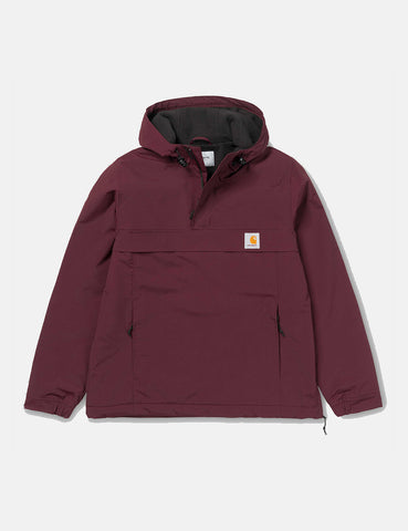 Carhartt Nimbus Half-Zip Jacket (Fleece Lined) - Amarone Burgundy