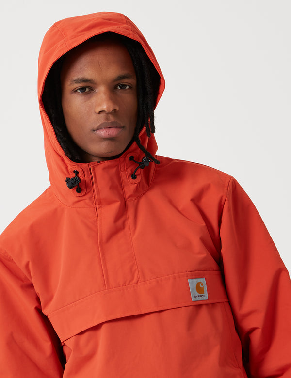 Carhartt-WIP Nimbus Half-Zip Jacket (Fleece Lined) - Persimmon Orange