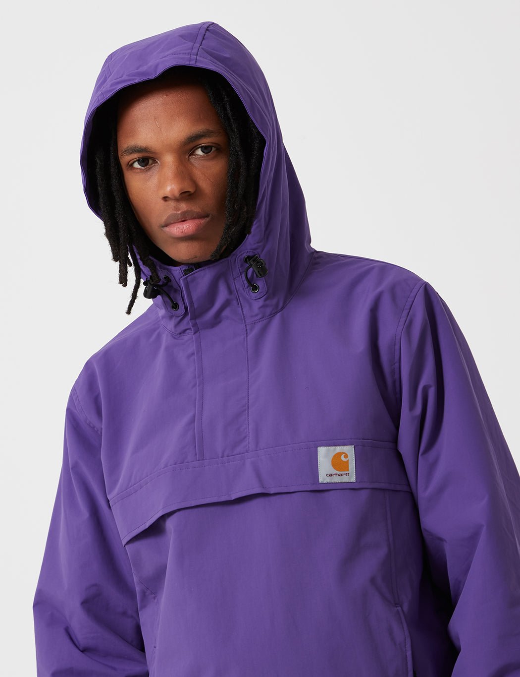 Carhartt-WIP Nimbus Half-Zip Jacket (Fleece Lined) - Frosted Viola Purple