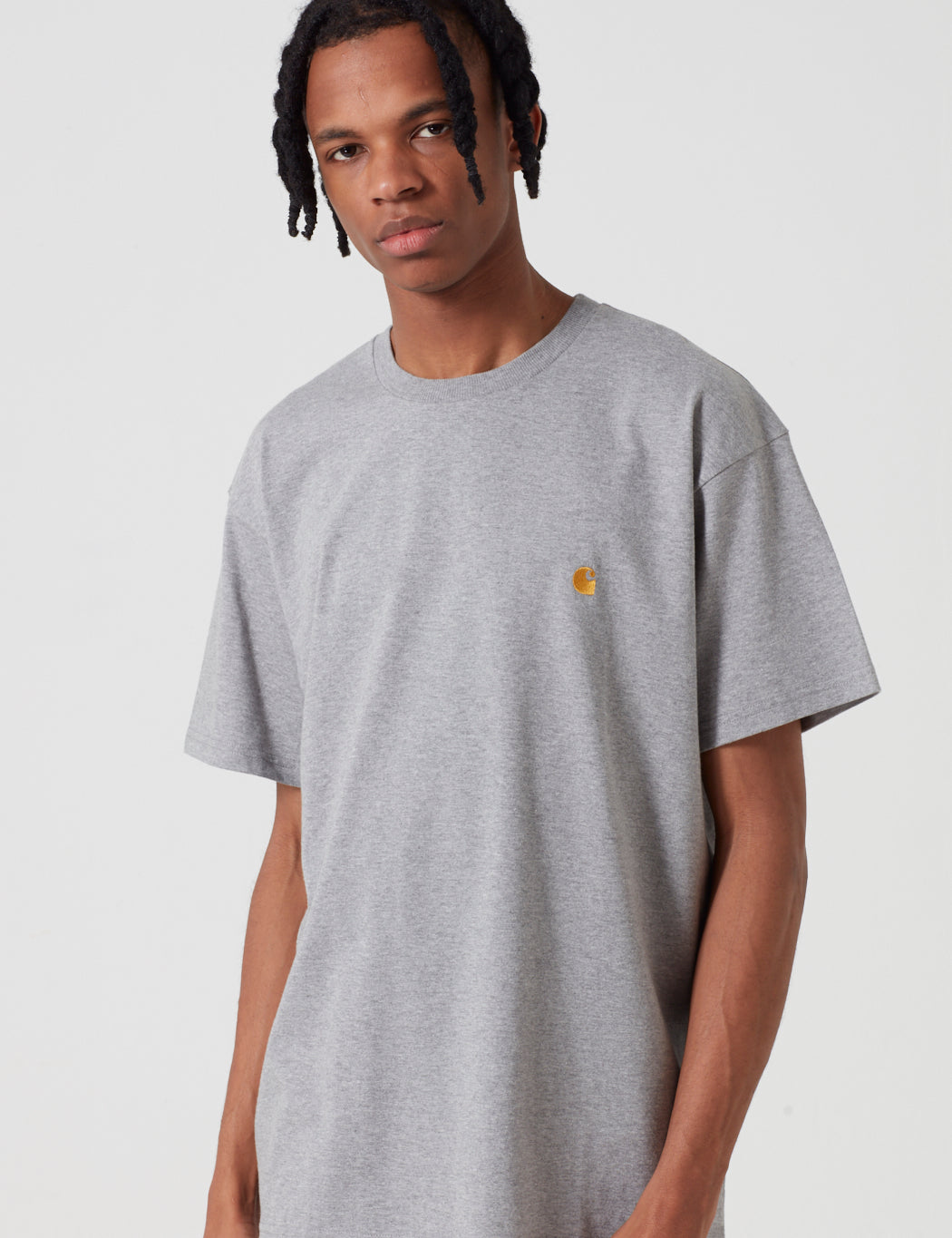 Carhartt-WIP Chase T-Shirt - Grey Heather