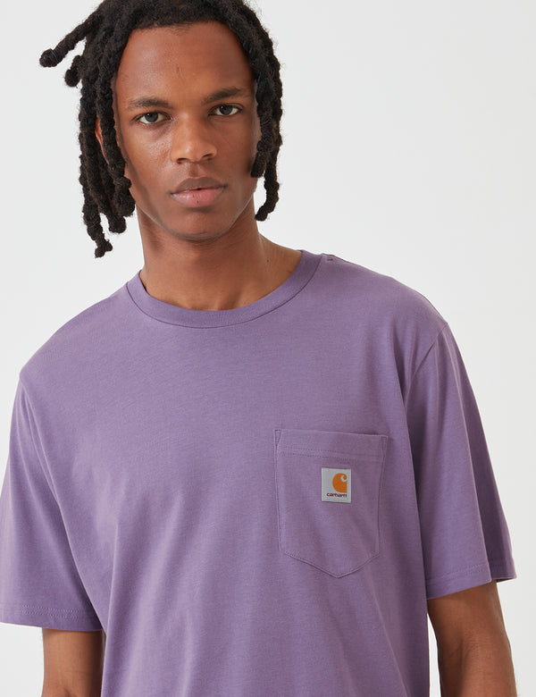 Carhartt-WIP Pocket T-Shirt - Dusty Mauve Pink