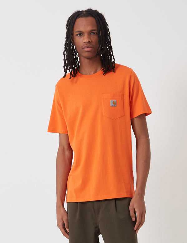 Carhartt-WIP Pocket T-Shirt - Clockwork Orange