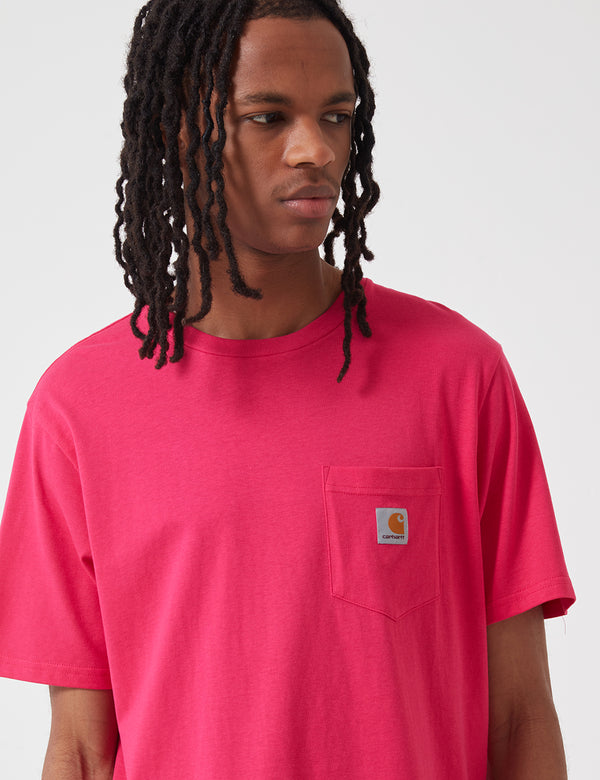 Carhartt-WIP Pocket T-Shirt - Ruby Pink