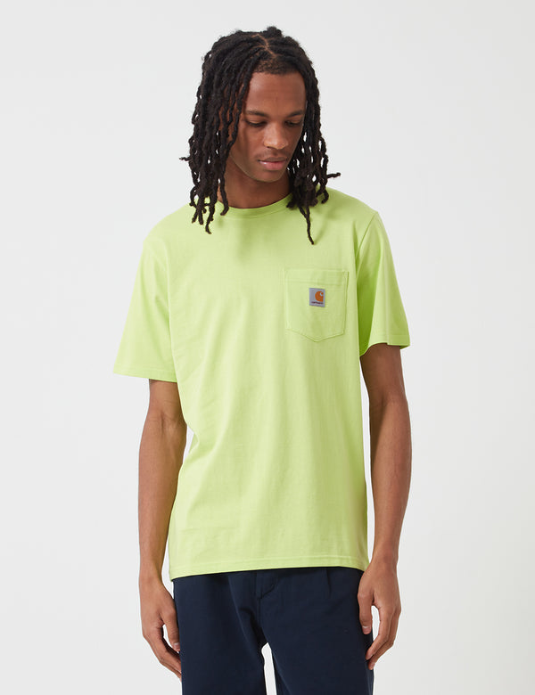 Carhartt-WIP Pocket T-Shirt - Lime Green