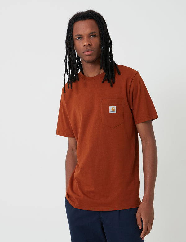 Carhartt-WIP Pocket T-Shirt - Brandy