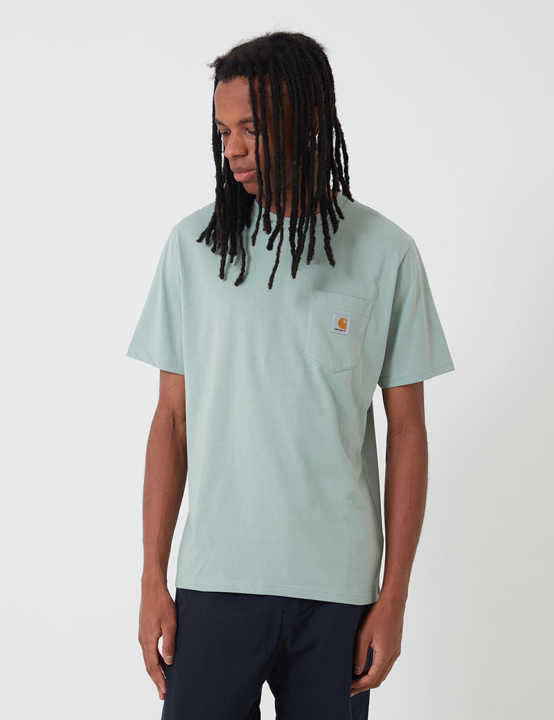 Carhartt-WIP Pocket T-Shirt - Frosted Green