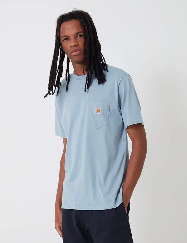 Carhartt-WIP Pocket T-Shirt - Frosted Blue