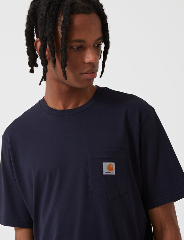 Carhartt-WIP Pocket T-Shirt - Dark Navy Blue