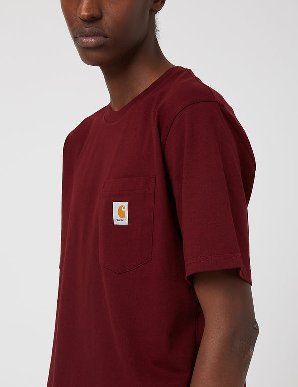 Carhartt-WIP Pocket T-Shirt - Bordeaux