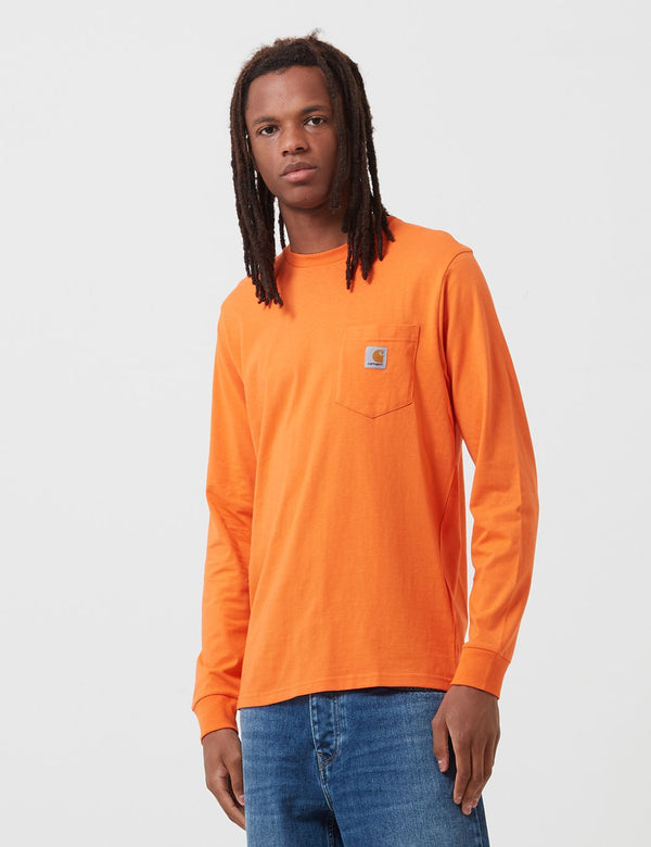Carhartt-WIP Pocket Long Sleeve T-Shirt - Clockwork Orange