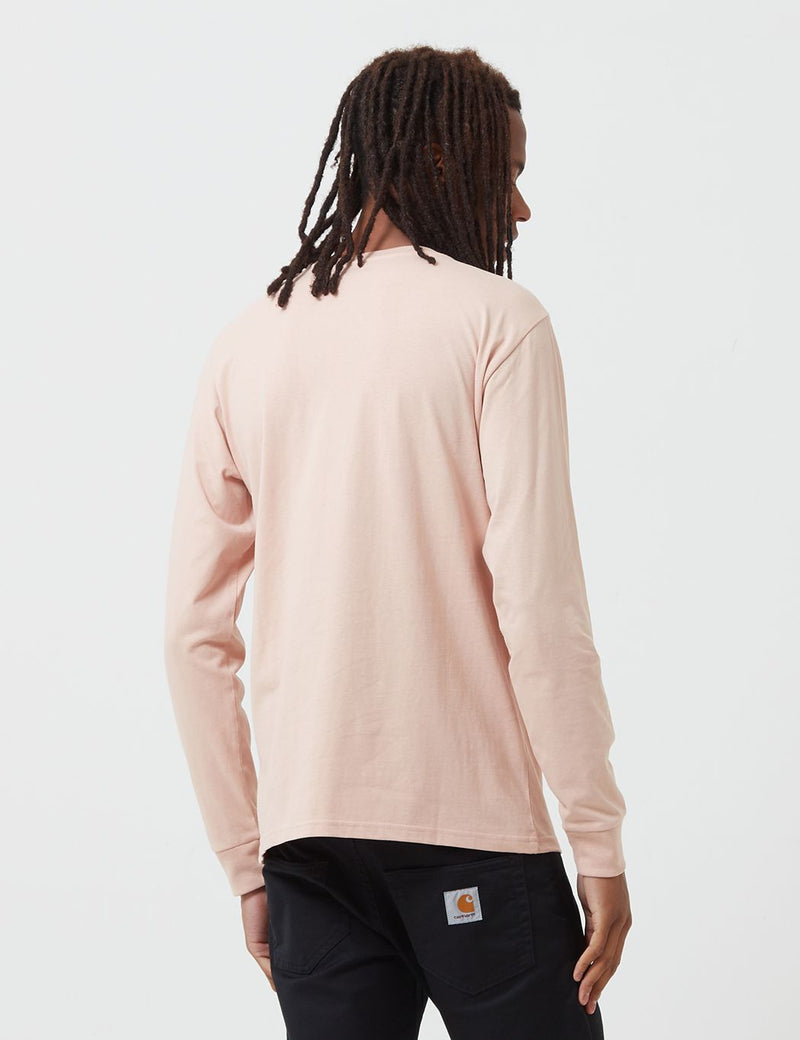 Carhartt-WIP Pocket Long Sleeve T-Shirt - Powdery Pink