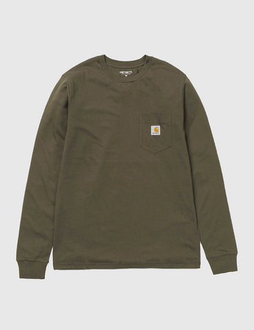Carhartt Pocket Long Sleeve T-Shirt - Cypress Green