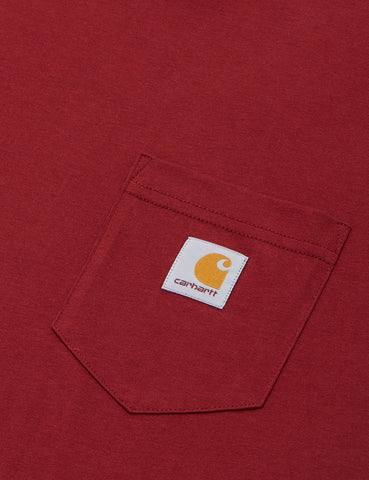 Carhartt Pocket Long Sleeve T-Shirt - Mulberry