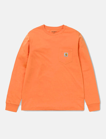 Carhartt Pocket Long Sleeve T-Shirt - Jaffa Orange