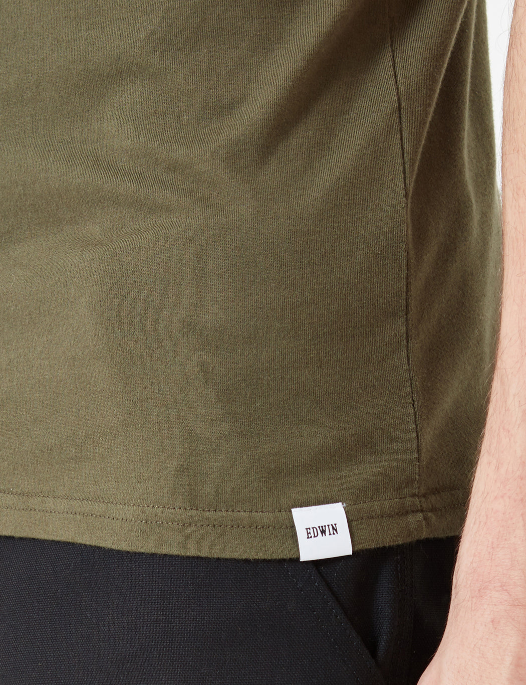 Edwin Pocket Jersey T-Shirt - Olive Green