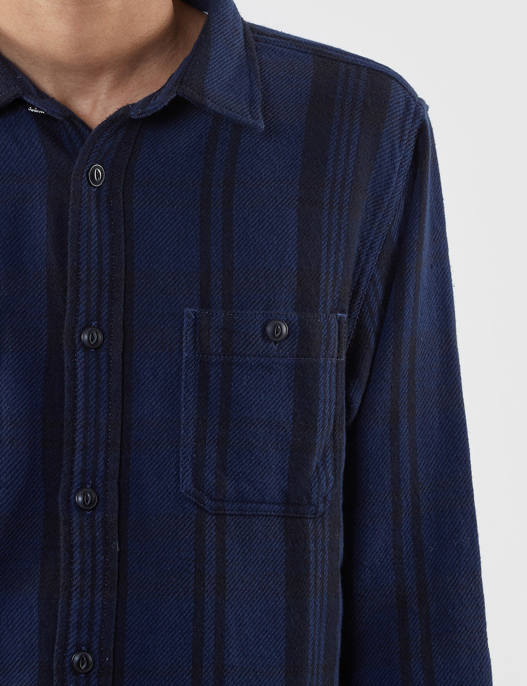 Edwin Labour Checked Shirt - Navy/Black