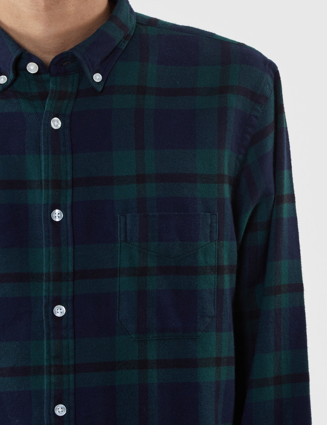 Edwin Standard Flannel Shirt - Black Watch Tartan