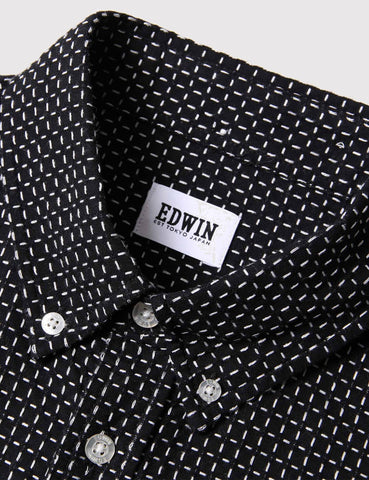 Edwin Standard Shirt - Black/White