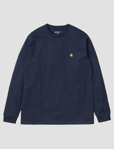 Carhartt Chase Long Sleeve T-Shirt - Blue