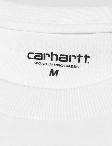 Carhartt Chase Long Sleeve T-Shirt - White