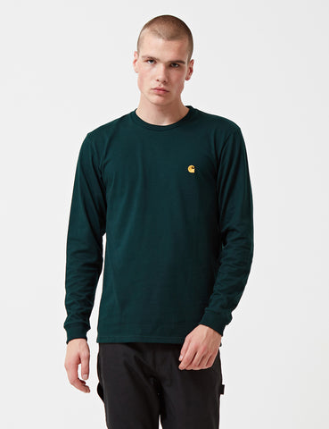 Carhartt Chase Long Sleeve T-Shirt - Parsley Green