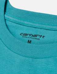 Carhartt Chase Long Sleeve T-Shirt - Teal Green