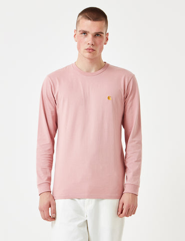 Carhartt Chase Long Sleeve T-Shirt - Soft Rose Pink