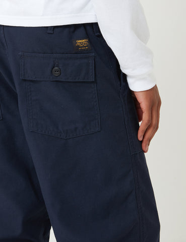 Carhartt-WIP Fatigue Pant - Dark Navy Blue