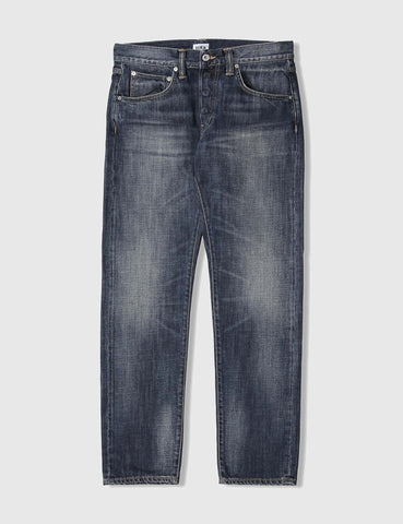 Edwin ED-55 Dark Blue Jeans 12oz (Regular Tapered) - Grime Dirt Wash