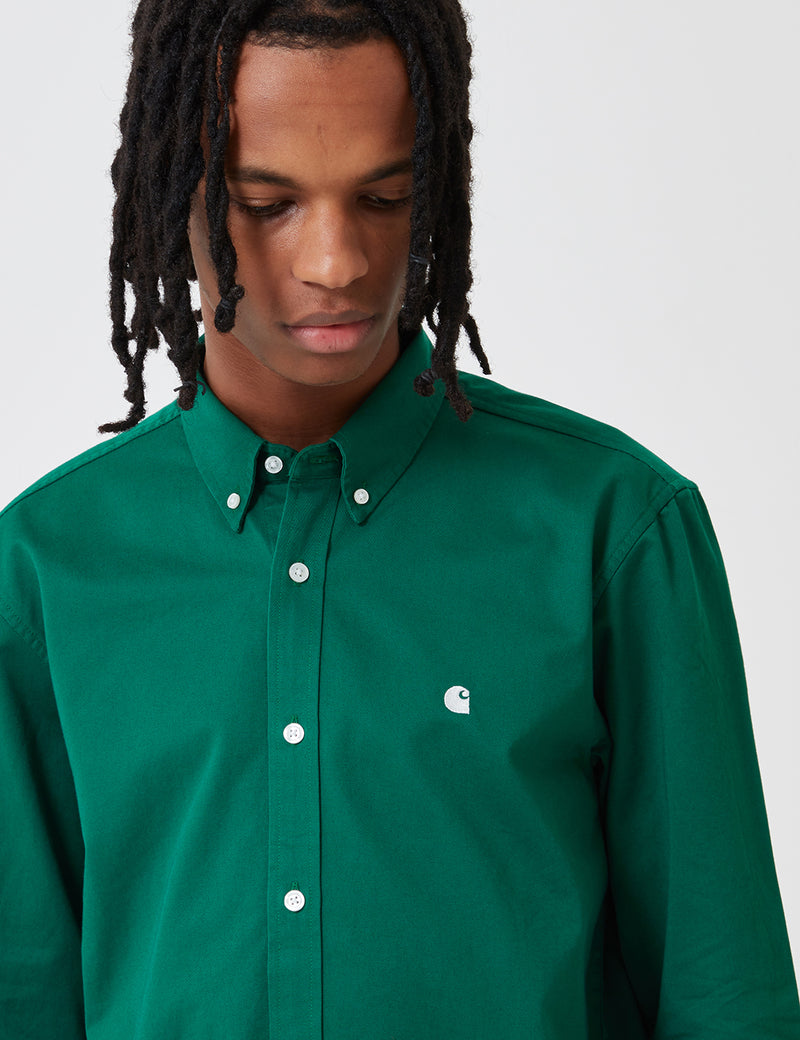Carhartt-WIP Madison Shirt - Dragon Green